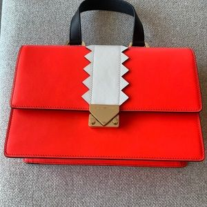 New! Leather Satchel Bag